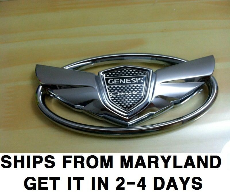 NEW 2011 Hyundai Genesis 2.0 Turbo 3.6 Coupe Chrome Wing Emblem Grille