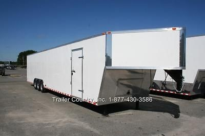 NEW 8.5 X 48 8.5 X48 ENCLOSED GOOSENECK CARGO CAR HAULER TRAILER 21K V