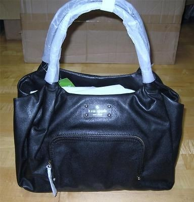 NWT KATE SPADE Baxter Street Stevie Black Leather Handbag Purse R$428