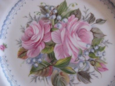 Royal Albert Happy Birthday 8 Floral Plate Signed EXC
