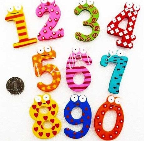 New Baby Toys Fridge Wooden Magnets Holder Set 0 9 Digit