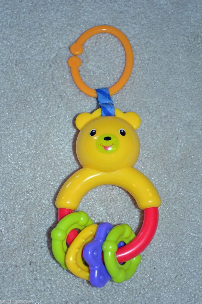 Bright Starts Kids II Bouncer Gym Loop Link Bear Rattle Toy