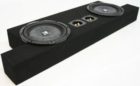 CHEVY COLORADO 04 12 CREW CAB TRUCK DUAL 10 KICKER CVT SUBWOOFER BOX