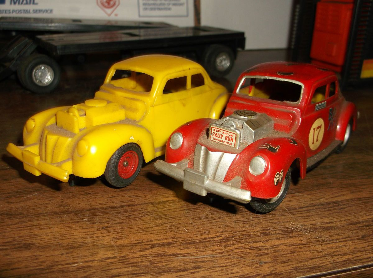 GILBERT 40 FORD COUPE HOT ROD BODYS,CHASSIS, TIRES SLOT CAR