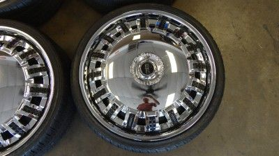22 Dub Opera Spinners Spinning Chrome Wheels Nexen Tires Cadillac