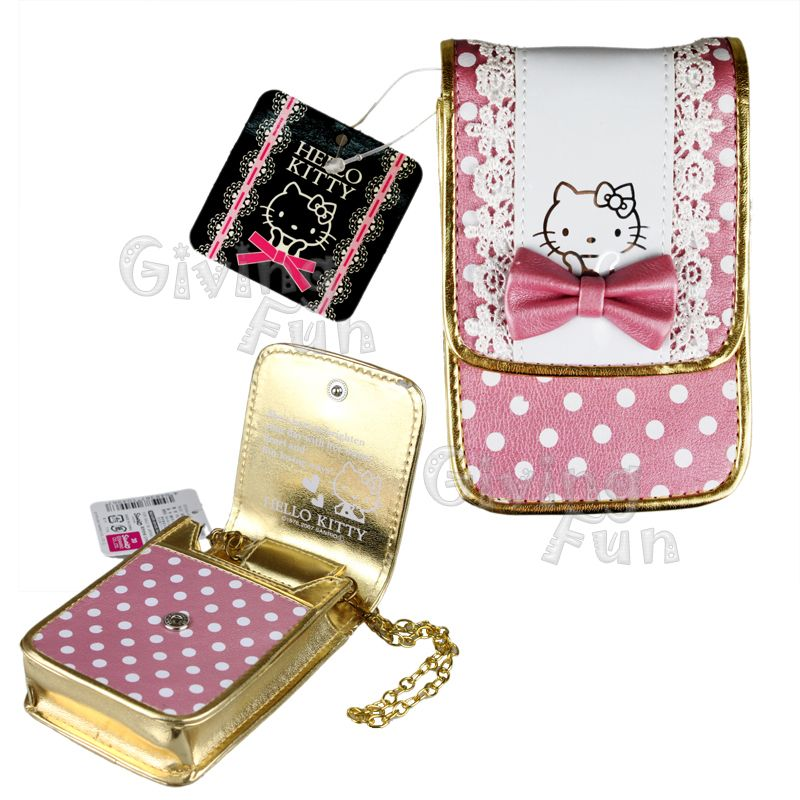 Genuine Hello Kitty Cell Phone Cigarette Credit Card Case Box Pouch