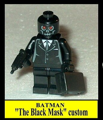 BATMAN #13 Lego The Black Mask w//acc/'s NEW custom Genuine Lego Parts
