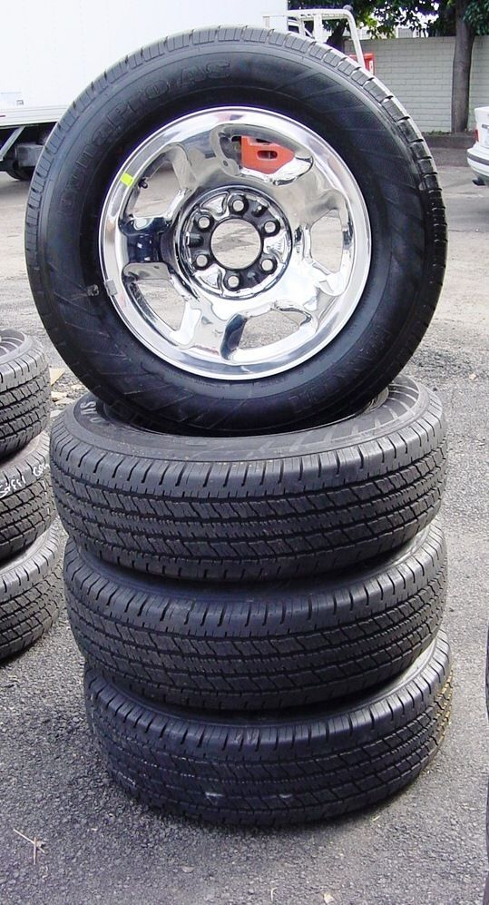 FORD F150 2004   UP 17 INCH CHROME OVER STEEL OEM WHEELS & TIRES